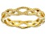 18K Yellow Gold Over Sterling Silver Braided Band Ring