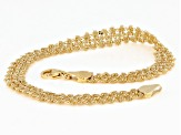 18K Yellow Gold Over Sterling Silver Nuvola Collection Bracelet.