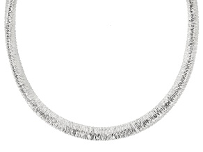 "Sterling Silver Graduated Wire-Wrapped Omega 18"" Necklace"