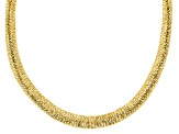 "18K Yellow Gold Over Sterling Silver Graduated Wire-Wrapped Omega 18"" Necklace"