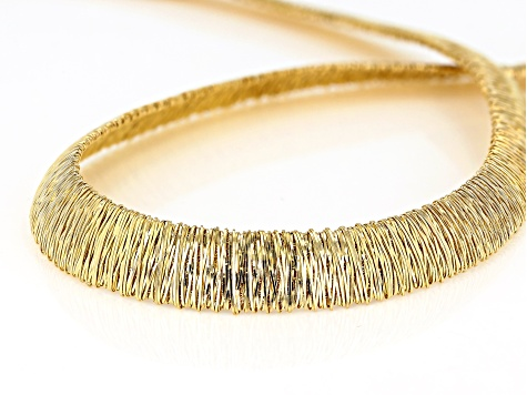 18K Yellow Gold Over Sterling Silver Graduated Wire-Wrapped Omega 18