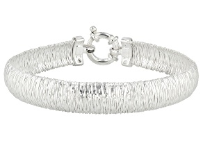 Sterling Silver Wire Wrapped Omega Bracelet