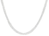 Sterling Silver Multi-Strand Braided Mesh Necklace