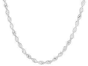 Sterling Silver Twisted Infinity Necklace 20""
