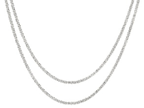 Sterling Silver Marguerita Chain Necklace Set of Two 18