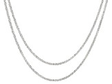 "Sterling Silver Marguerita Chain Necklace Set of Two 18"" and 20""."