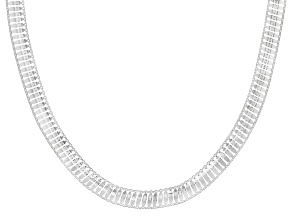 Sterling Silver Flat Cleopatra Necklace 20