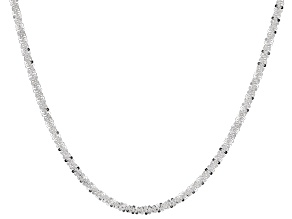 Sterling Silver Criss-Cross Necklace 18""