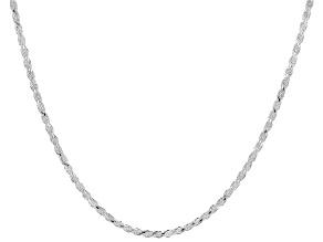 Sterling Silver Diamond Cut Rope 1.7mm Slider Adjustable Necklace 28