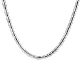 Sterling Silver Cashmere Diamond-Cut Snake 4.2mm Necklace 18