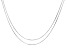 Sterling Silver Snake 0.95mm 8 Sided Set of Two Necklaces 18