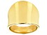 18k Yellow Gold Over Sterling Silver Polished Band Ring 18MM