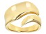18K Yellow Gold over Sterling Silver Bypass Polished Band Ring