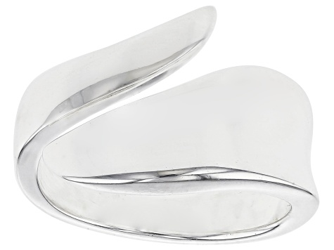 Sterling Silver Bypass Polished Band Ring