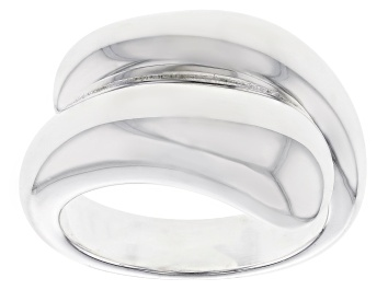 Picture of Sterling Silver Polished Cross Over Band Ring.