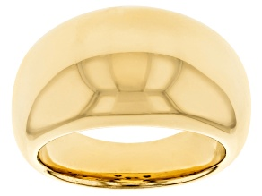 18K Yellow Gold Over Sterling Silver Polished Graduated Dome Ring