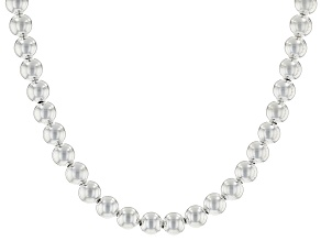 Sterling Silver Bead Strand Necklace 20 inch.