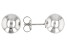 RHODIUM OVER STERLING SILVER 10MM BALL STUD EARRINGS