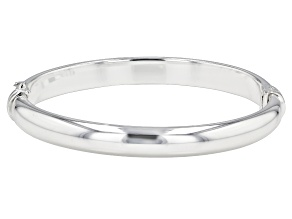 Sterling Silver Polished Bangle Bracelet 7 Inches