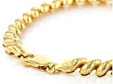 18k Yellow Gold Over Sterling Silver San Marco 7.25 inch Bracelet