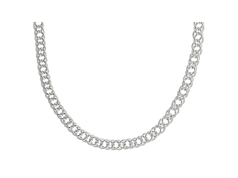Sterling Silver Double Marquise Necklace 20 Inches