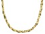 18K Yellow Gold Over Sterling Silver Braided Herringbone Necklace 20