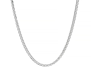 Sterling Silver Diamond-Cut Wheat Chain Necklace 20""