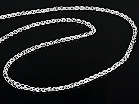 Sterling Silver Diamond-Cut Wheat Chain Necklace 24