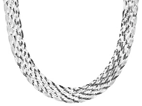 Sterling Silver Braided Necklace 20 inch