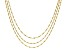 18K Yellow Gold Over Sterling Silver Multi-strand Twisted Herringbone Necklace 20 inch