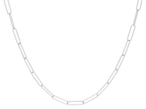 Sterling Silver Diamond Cut Oval Link Necklace 32 inch