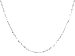 Sterling Silver Oval Rolo Diamond Cut Necklace 100 Inches