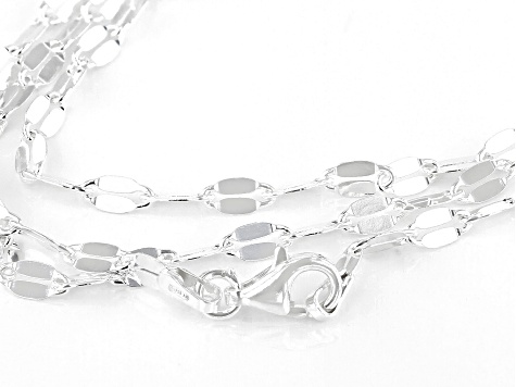 Sterling Silver Mirror Necklace 100 Inches