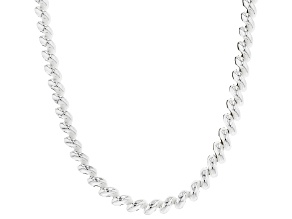 Sterling Silver 7mm San Marco Chain Necklace 18
