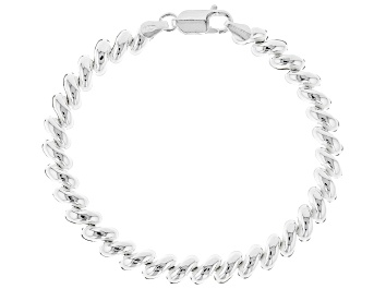 Picture of Sterling Silver 7mm San Marco Link Bracelet 7.5 inches
