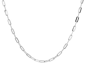 Sterling Silver Oval Link Necklace 20 inch