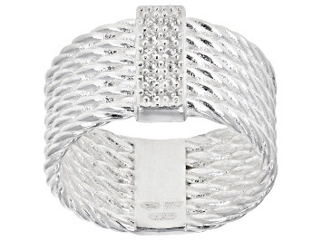 Picture of Bella Luce White Cubic Zirconia Sterling Silver Multi-Row Ring 0.07ctw