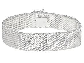 Sterling Silver Diamond Cut Riccio Bracelet