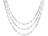 Sterling Silver Chain Necklaces- Set of 3