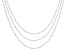 Sterling Silver Singapore Chain Necklaces- Set Of Three