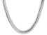 Sterling Silver 9.8mm Cashmere Omega Necklace 18 Inches