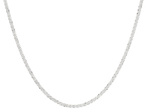 Sterling Silver Criss-Cross Box Chain Necklace 24""