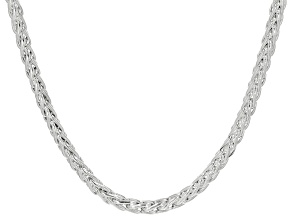 Sterling Silver Wheat Chain Necklace 20 Inches