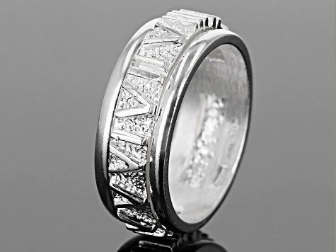 Sterling Silver Polished Rolling Band Ring