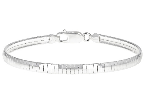 4.5MM Sterling Silver Domed Cube Bracelet