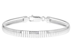 6.0MM Sterling Silver Domed Bracelet
