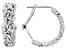 Rhodium Over Sterling Silver Byzantine Hoop Earrings