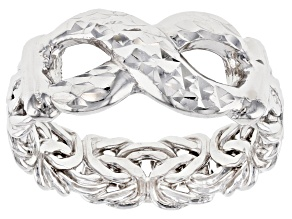 Sterling Silver Infinity Sign Byzantine Design Ring