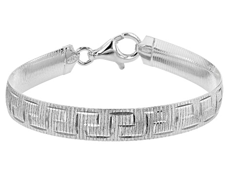 Sterling Silver 8.30MM 7.5 Inch Greek Omega Bracelet
