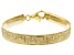18K Yellow Gold Over Sterling Silver 8.30MM 7.5 Inch Greek Omega Bracelet